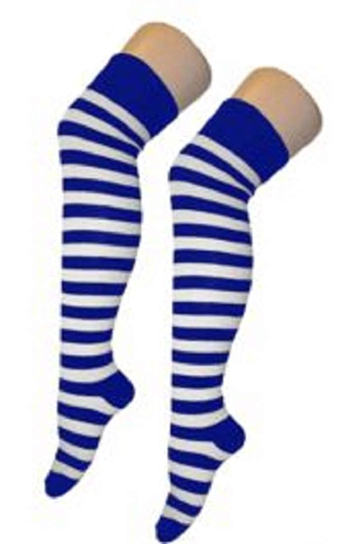 Stripey Striped Overknee Over the Knee Long Socks