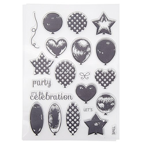 (Kesheng Clear Rubber Stamp Sheet for Diary Scrapbooking Album Card DIY Craft Decoration Balloon)