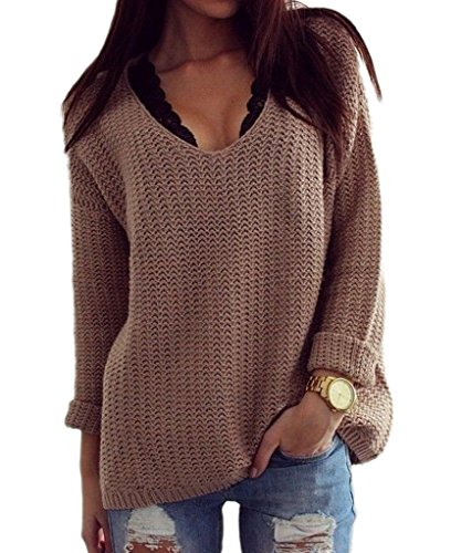 Mansy Womens Knitted Pullover Sweater