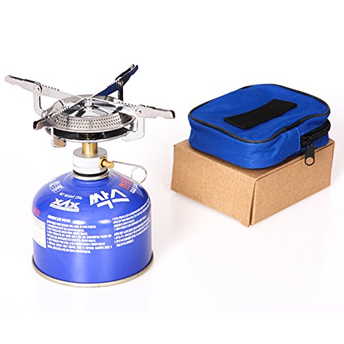 Progre®Outdoor Portable Camping Stove Butane Propane Burner for Gas Canisters Cookware (Small Propane Stove Oven compare prices)