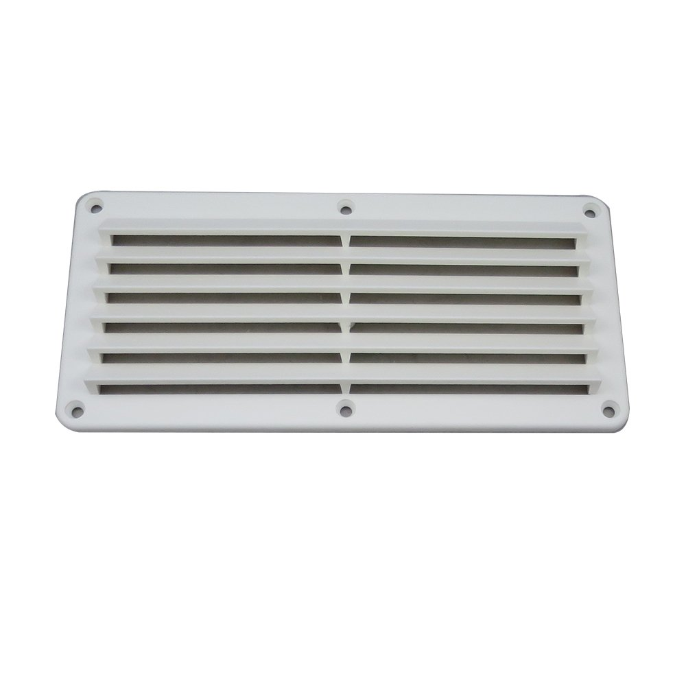 """10-1//4/"""" x 4-7//8/"""" White Water 58825W ABS White Plastic Louvered Vent"""