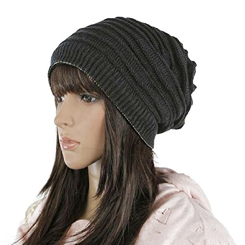 Reversible Winter Beanie Hat Cap - 1