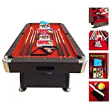 7' Feet Billiard Pool Table Snooker Full Set Accessories Game mod. RED DEVIL