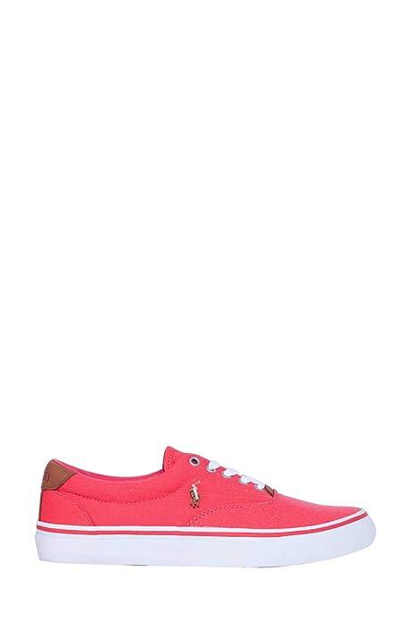 Ralph Lauren - Zapatillas para Hombre Rojo Rojo: Amazon.es: Zapatos y complementos
