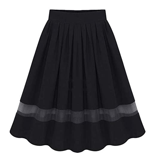 691f15adf4 Amazon.com: Lady's Organza Princess Skirt A Line Pleated Midi/Knee Length  Tutu Party Skirts Evening Party Gown Prom Formal Skirts (Black, ...