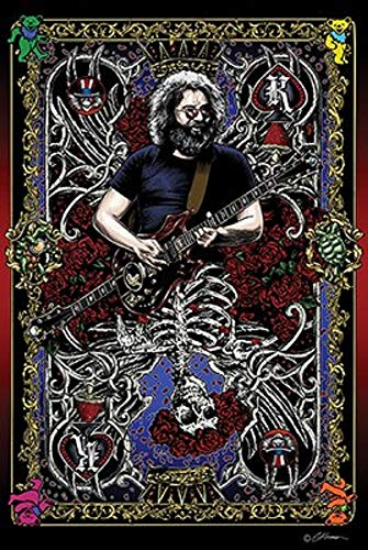 Picture Peddler Laminated Jerry Card Grateful Dead Jerry Garcia Poster 24x36