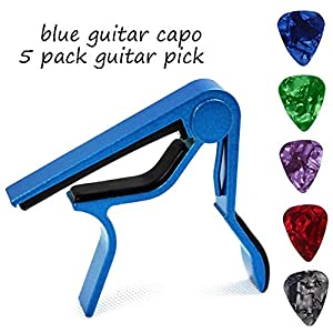 Gitarren Kapodaster Gitarre Kapo Capo Capodaster für Akustik Ukulele E-Gitarre Bass Mandoline Geige mit Plektrum Gitarre…