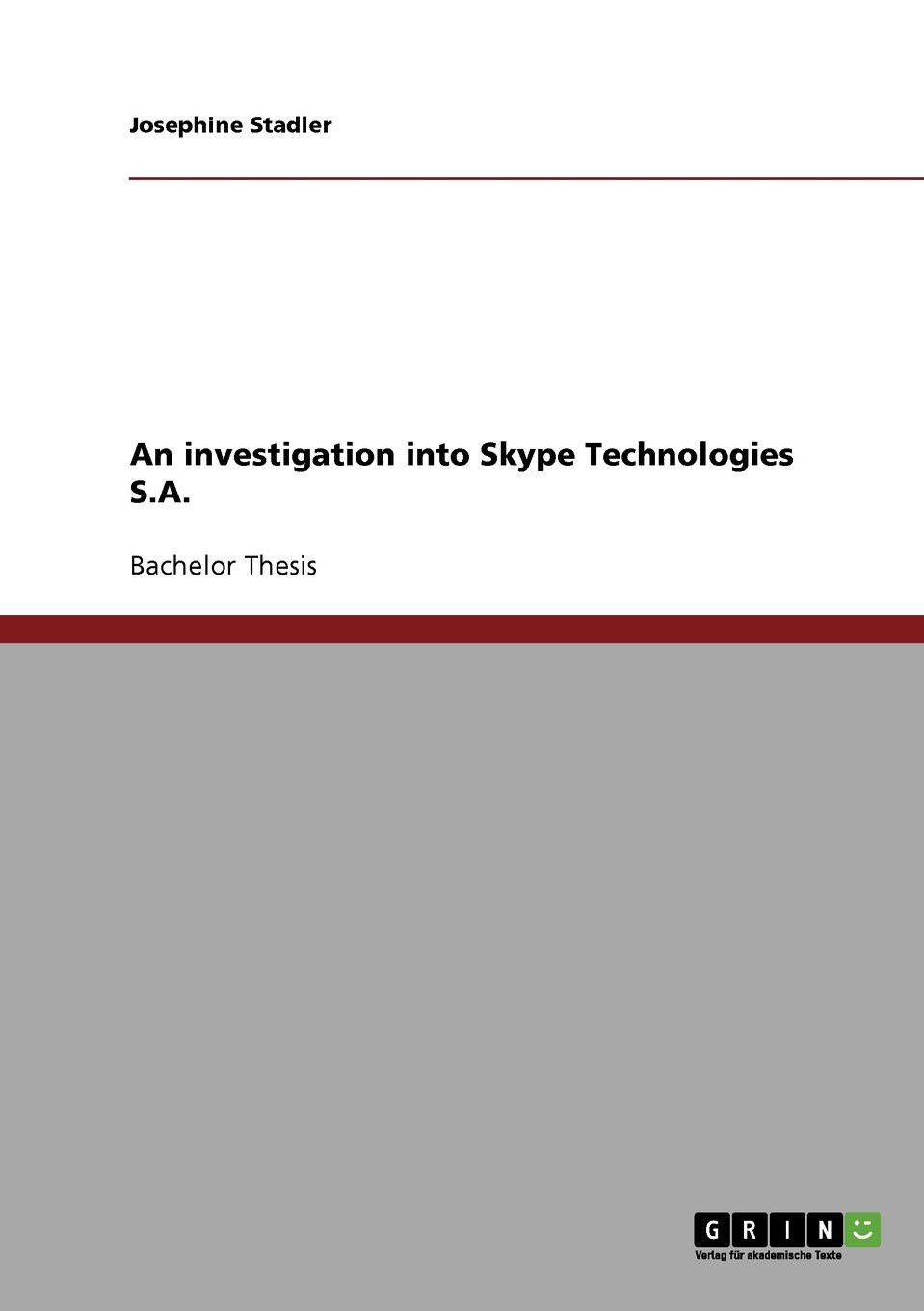 Read Online An investigation into Skype Technologies S.A. pdf