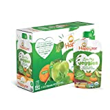 Happy Baby Organic Stage 2 Baby Food, Simple Combos, Variety Pack, 4 Ounce (Pack of 16)