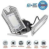 LED Garage Lights Motion Activated 8000 Lumen 80W LED Shop Lights for Garage with 3 Adjustable Panels E26 Garage Lighting for Garage Basement Workshop
