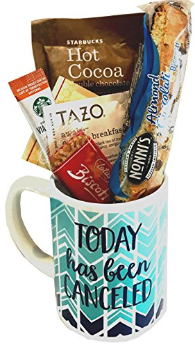 Starbucks Coffee Mug Gift Sets WITH Via Coffee Hot Cocoa Tea and MORE - Get Well Soon - Birthday Gift - Thinking of You Gift - DESIGNED FOR HER or (Get Well Cookies)