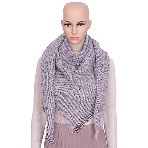 Coupe Triangle - MJ-Young Winter Triangle Scarf Women Thicken Shawls and Wraps Loop Yarns Cashmere Scarves Blanket2 onesize