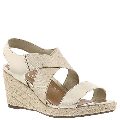 VIONIC Womens Talum Ainsleigh Leather Sandals Champagne