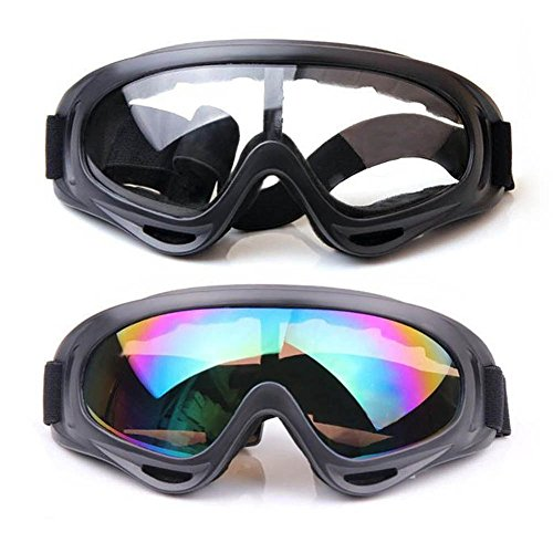 Snow Goggles,FOME 2pcs Sport Sunglasses Snow Goggles Snowboard Goggles with UV400 Protection Windproof Anti-Glare Lenses for Kids Men Women Adults for Riding Motorcycle Skating Skiing - Sunglasses Snowboarding