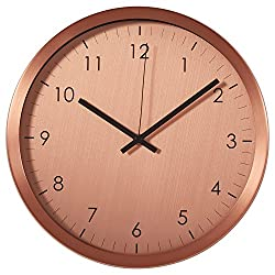 Rivet Retro Steel Clock, 12H, Copper