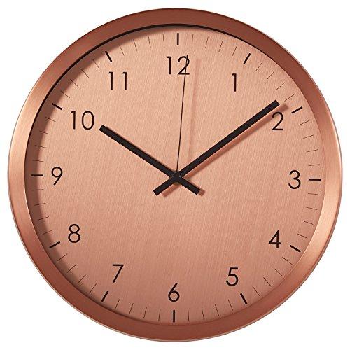 Rivet Retro Steel Clock, 12″H, Copper