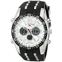 Asociación de Estados Unidos de Polo. Reloj deportivo para hombre US9061 con correa de caucho negro.