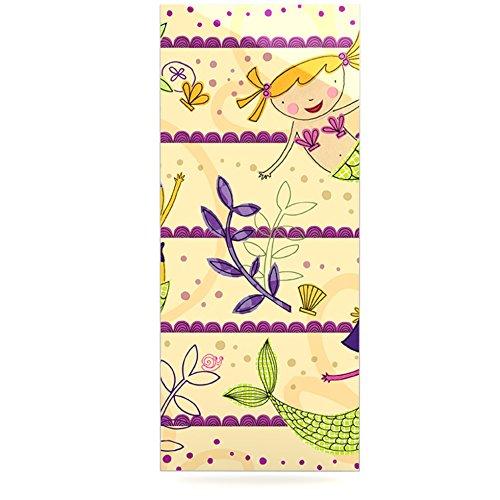 24 x 36 Kess InHouse Jane Smith Under The Sea Tan Purple Luxe Rectangle Panel