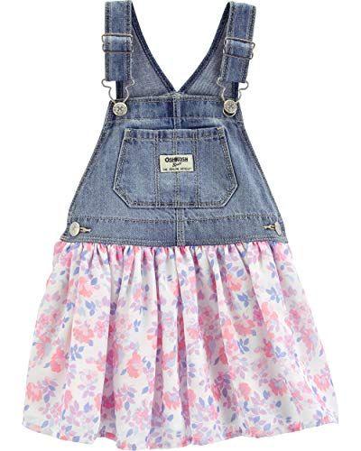 OshKosh B'Gosh Baby Girls World's Best Overalls, Floral Tulle Jumper, 12 Months