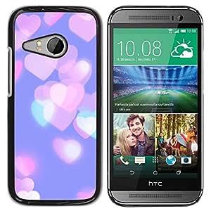 Paccase / SLIM PC / Aliminium Casa Carcasa Funda Case Cover para - Hearts Pink Purple Teal City - HTC ONE MINI 2 / M8 MINI