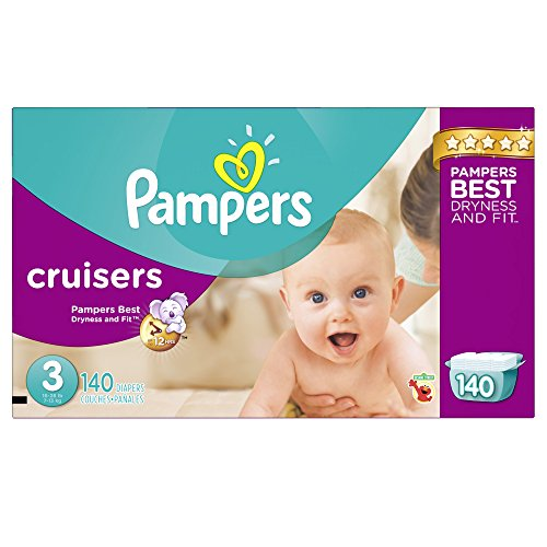Pampers Cruisers Disposable Diapers Size 3, 140 Count, ECONOMY