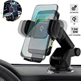 ZeeHoo Automatic Clamping Wireless Car Charger Mount,10W/7.5W Qi Fast Charging Car Phone Holder,Windshield Dashboard Air Vent Compatible with iPhone Xs MAX/XS/XR/X/8/8+,Samsung S10/S10+/S9/S9+/S8/S8+