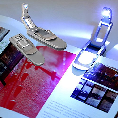 Silver Finish LED Book Light with Clip (Avon Clip)
