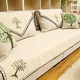 American winter fabric sofa cushions/ simple and modern four sofa cushions/ pastoral style sofa towel/ sofa-A 110x210cm(43x83inch)