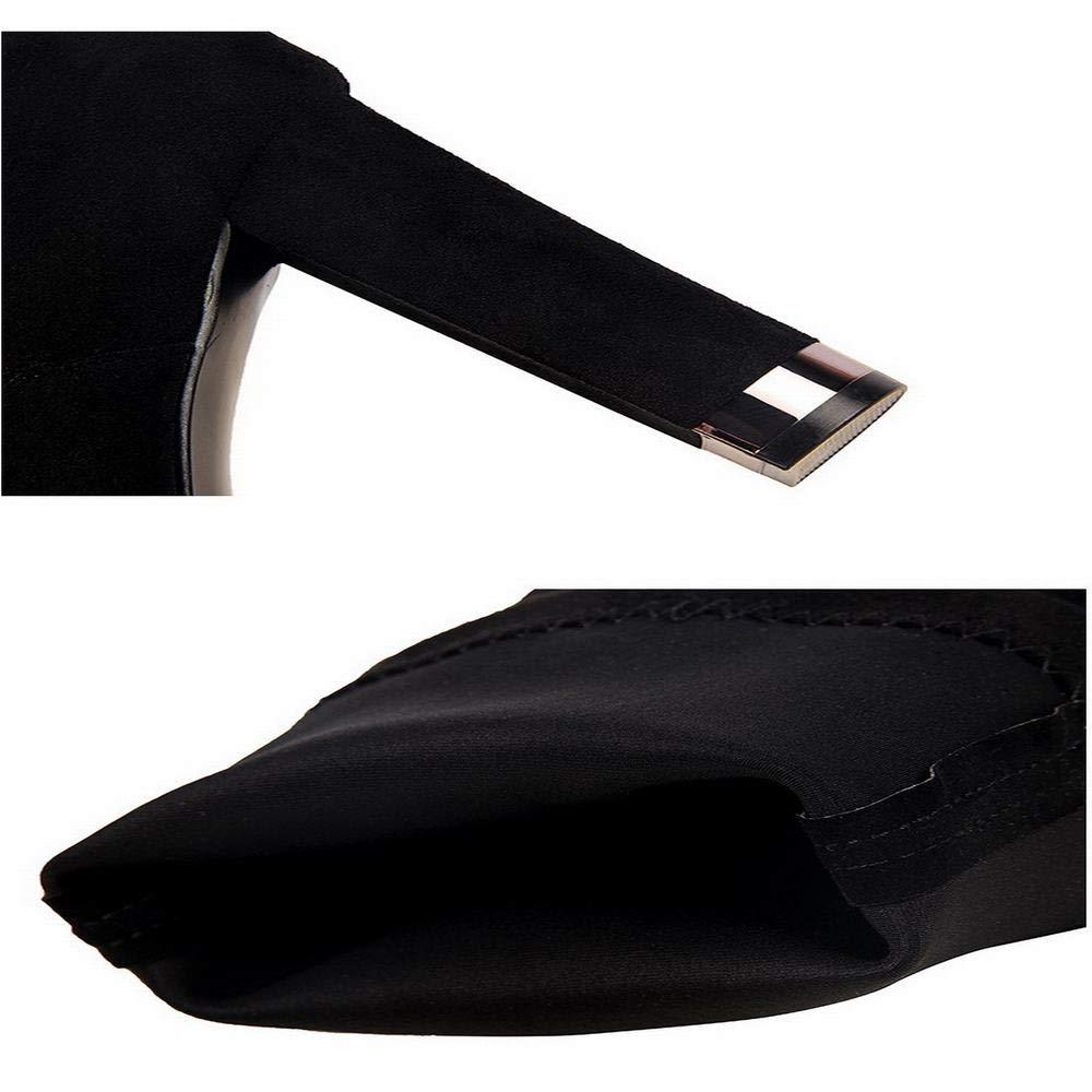 Funytine Damenstiefel Schwarze Schlanke High Heel Stiefel (Farbe (Farbe (Farbe   schwarz, Größe   39) d76f0f