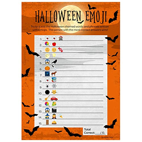 Classroom Halloween Party Invitation (Halloween Party Emoji Game - 25)