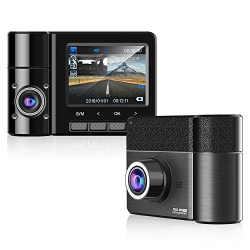 Emmabin Dual Car Dash Cam 2.3'' TFT HD 1080P 170°Degree Wide Angle Dashboard Camera Recorder with G-Sensor,WDR,Loop Recording,Super Night Vision Front and Rear Car Dash Camera by Emmabin