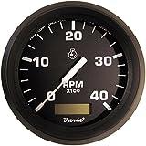 Faria Euro 4 Tachometer w/Hourmeter (4000 RPM) (Diesel) (Mech Takeoff & Var Ratio Alt)