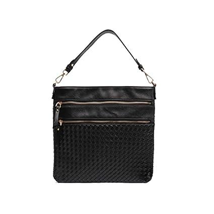 c97151f1ac0c Amazon.com  Shoulder Bag Vegan Leather Women Handmade Woven Straw ...