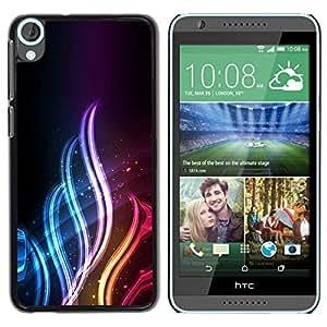 Be Good Phone Accessory // Dura Cáscara cubierta Protectora Caso Carcasa Funda de Protección para HTC Desire 820 // Neon Flame
