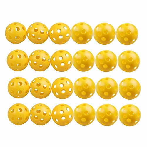 50 Pcs Golf Practice Training Sports Balls Airflow Hollow for Pre-game Warm Ups Lightweight Durable by Phingshop