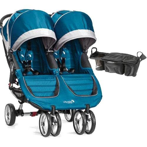 Baby Jogger - City Mini Double Stroller with Parent Console - Teal Gray
