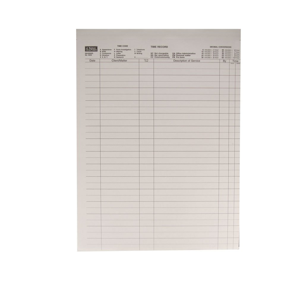 Time Record Sheets with Labels, 100 No Carbon Required Two-Part Sheets per Package; 1500 Labels (8.5-x-11-inch)