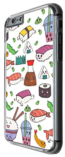 949 - Cool cute fun food sushi rolls food lovers japanese maki california roll illustration art doodle kawaii (3 Design For iphone 4 4S Fashion Trend CASE Back COVER Plastic&Thin Metal -Clear