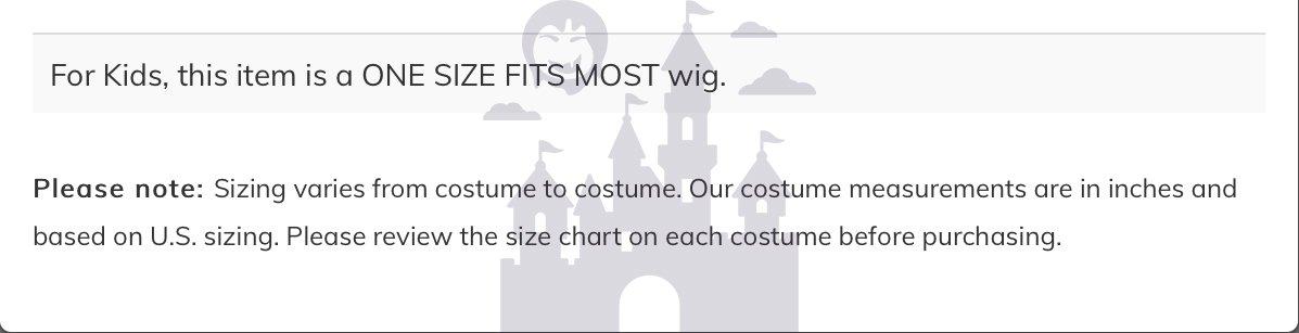 Mal Wig Costume Accessory