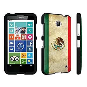 DuroCase ? Nokia Lumia 630 Hard Case Black - (Mexico Flag)