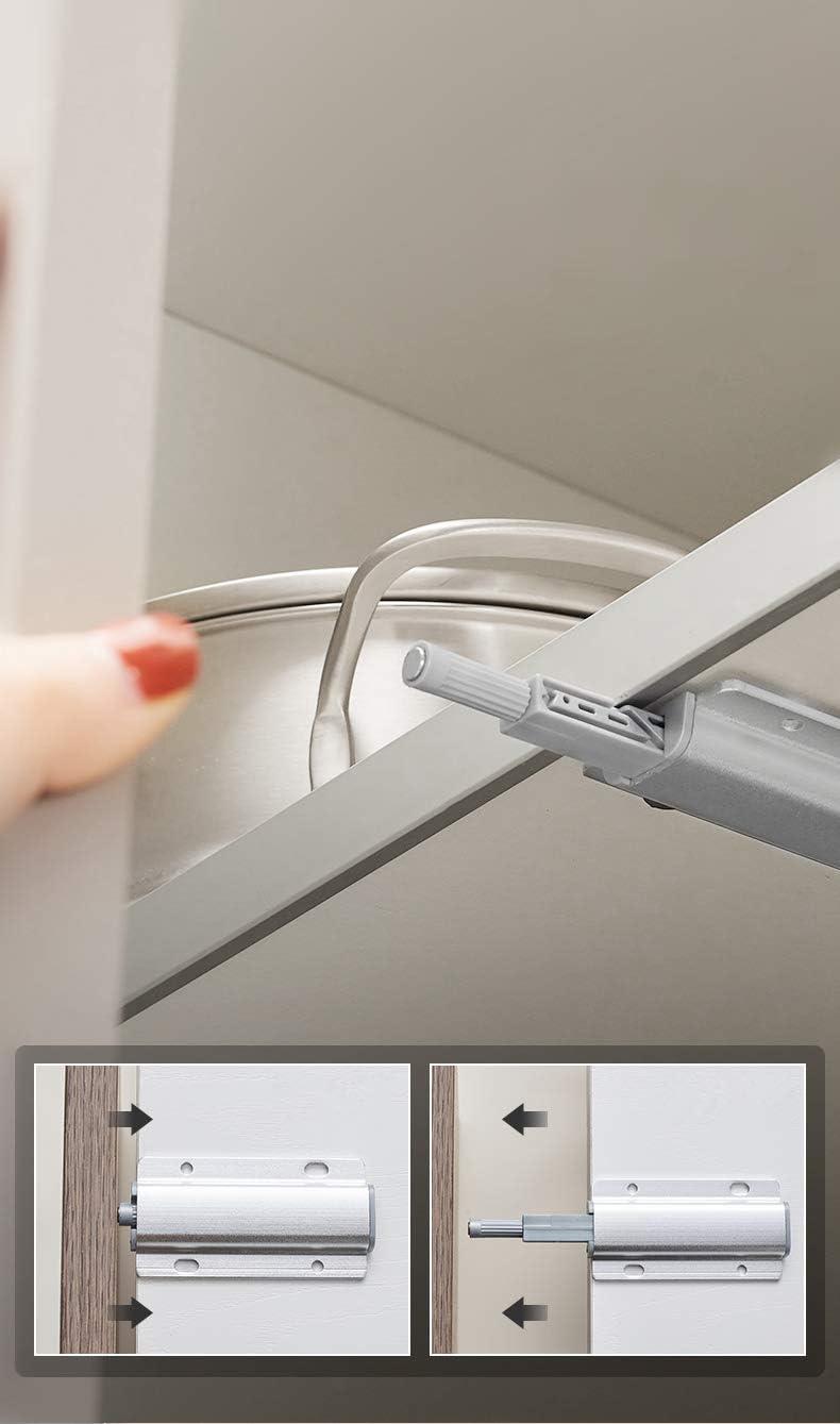 YUOIP® - Amortiguador magnético de aleación de aluminio para abrir y cerrar la puerta con un solo empuje (10 unidades de montaje lateral): Amazon.es: Bricolaje y herramientas