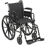 CRUISER III Lightweight Wheelchair 18 Flipback Removable Desk Arms and Swingaway Leg Rests, 1 Case
