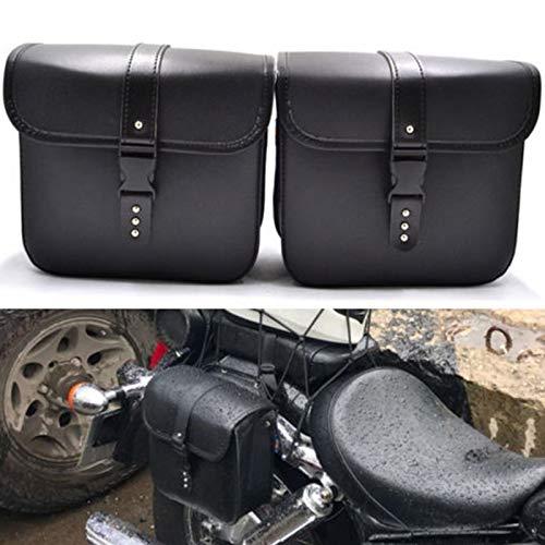 Outtybrave 1 Paar Motorradtaschen PU Leder Satteltasche Vintage Side Aufbewahrungstasche Motorrad Heavy Duty Reisetaschen