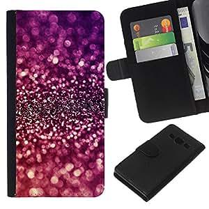 KingStore / Leather Etui en cuir / Samsung Galaxy A3 / Briller pourpre brillant réfléchissant