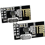 2pcs nRF24L01+ 2.4GHz Wireless Transceiver in Antistatic Foam Arduino Compatible