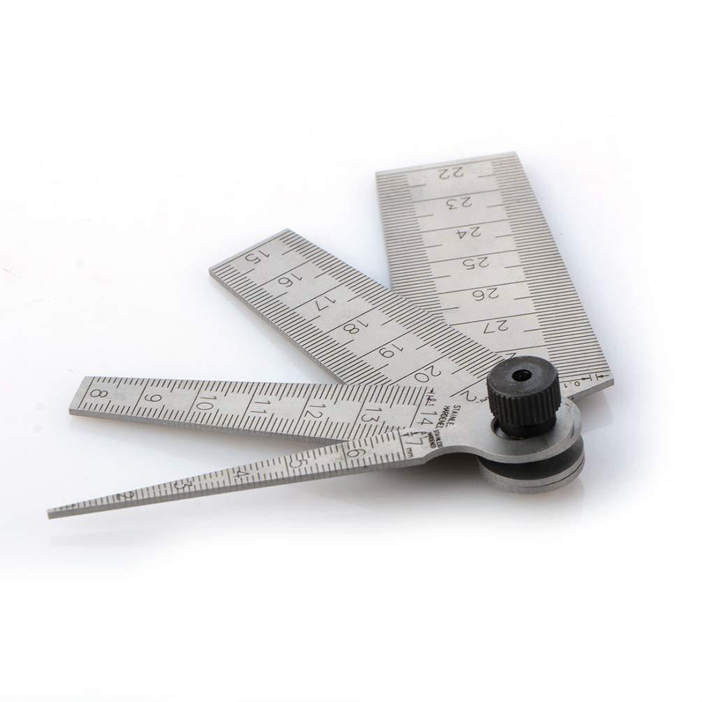 Dupeakya Taper Gage 4pcs 1-29 mm Welding Gauge Inspection Measuring Ruler Aperture Scale Wedge Feeler Inch /& Metric
