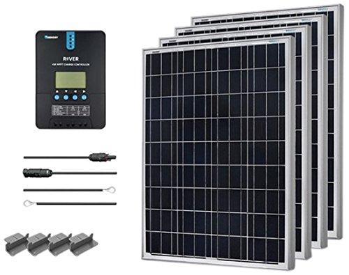 Renogy 400 Watt 12 Volt Polycrystalline Solar Starter Kit with 40A Rover MPPT Charge Controller