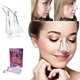 Nose Shaper Lifter Clip Nose Beauty Up Lifting Soft Safety Silicone Rhinoplasty Nose Bridge Straightener Corrector Slimming Device for Wide Crooked Nose Women Men Girls Ladies