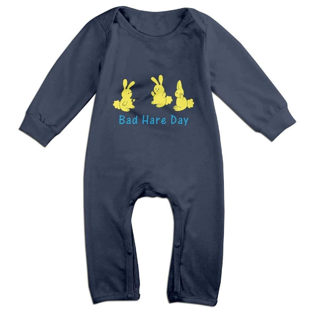 ineieepk Cute Cotton Bad Hare Day Baby Romper Climb Clothes