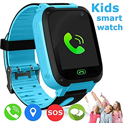 Kids Smart Watch - Smart Phone Watch for 3-12 Year Old Boys Girls with GPS Locator 1.5'' HD Touch Screen Fitness Tracker SOS Camera Game Flashlight Anti Lost Alarm Clock Holiday Birthday Gifts